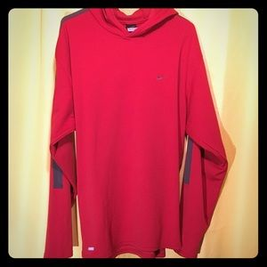 Red Nike Hooded Shirt